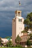 Wolken die zich over het Capitool van de Staat van New Mexico verzamelen Stock Foto