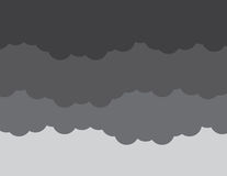 Wolken-Dunkelheits-Sturm stock abbildung