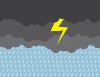 Wolken-dunkler Sturm-Blitz Lizenzfreie Stockbilder
