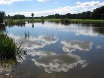 Wolken in een pool Royalty-vrije Stock Afbeelding