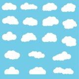 Wolken eingestellt stock abbildung