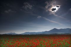 Wolken-Eklipse Lizenzfreie Stockfotos