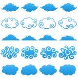Wolken. Elementen voor ontwerp. Royalty-vrije Stock Foto's