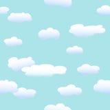 Wolken en blauwe hemel vector illustratie