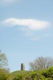 Wolken en de piek Stock Afbeeldingen