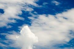 Wolken en Diepe Blauwe Hemel royalty-vrije stock foto
