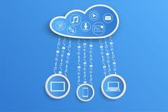 Wolken en gadgets Royalty-vrije Stock Afbeeldingen