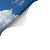 Wolken en hemel en witte krul stock illustratie