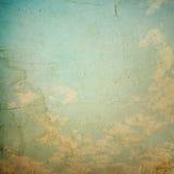 Wolken en hemel, grunge achtergrond Stock Afbeeldingen
