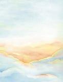 Wolken en hemelachtergrond royalty-vrije illustratie