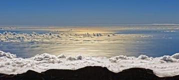 Wolken en overzees Stock Foto