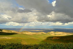 Wolken en Regenboog Stock Foto