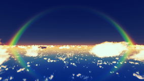 Wolken en Regenboog stock illustratie