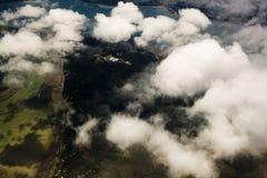 Wolken en schaduwen Stock Foto's