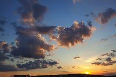 Wolken en schemer royalty-vrije stock afbeelding