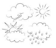 Wolken en zon Stock Foto's
