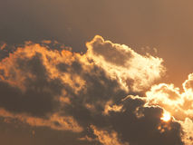 Wolken en zon Stock Fotografie