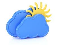 Wolken en zon vector illustratie