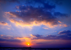 Wolken en Zonsondergang Stock Foto's