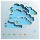 Wolken-Form-Kommunikations-Geschäft Infographic Stockfoto