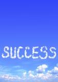 Wolken in Form von Erfolgswort Lizenzfreie Stockfotos