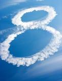 Wolken in Form von Tabelle acht Lizenzfreie Stockbilder