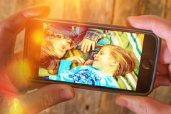 Wolken-Foto-Video-Speicher lizenzfreies stockbild