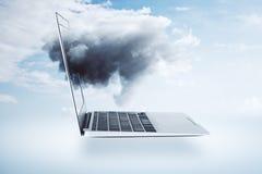 Wolken gegevensverwerking en innovatie concept stock fotografie