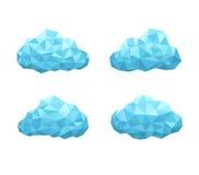 Wolken geometrische stijl Royalty-vrije Stock Fotografie