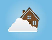 Wolken-Haus Stockfotos
