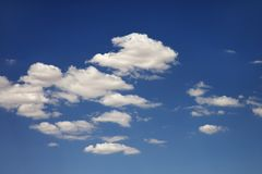 Wolken in hemel. Royalty-vrije Stock Afbeelding