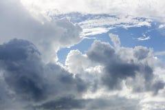Wolken, Hemel van Weidenbaai in Anguilla Caraïbisch Strand, royalty-vrije stock foto's