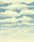 Wolken/het digitale schilderen Royalty-vrije Stock Afbeeldingen