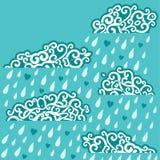 Wolken het regenen vector illustratie