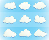 Wolken im Himmel vektor abbildung