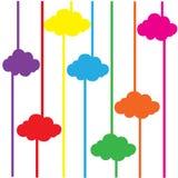 Wolken kleurrijke abstracte vectorillustrator als achtergrond EPS10 Royalty-vrije Stock Afbeeldingen