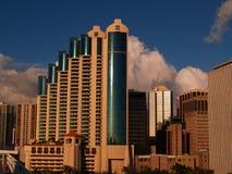 Wolken-Kontrollturm stockfoto