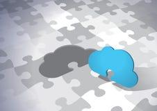 Wolken-Lösung Stockfotos