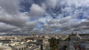 Wolken in Madrid Lizenzfreies Stockbild