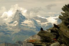 Wolken Matterhorn Stockfotografie