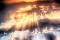 wolken met de zon royalty-vrije stock afbeeldingen