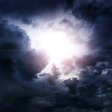 Wolken met een Licht Royalty-vrije Stock Foto's