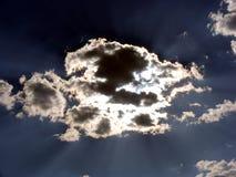 Wolken met een Zilveren Voering Stock Foto