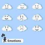 Wolken met emoties royalty-vrije illustratie