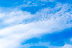 Wolken met hemel stock afbeelding