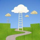 Wolken met ladder royalty-vrije stock foto