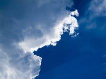 Wolken met rand Royalty-vrije Stock Foto's