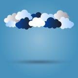 Wolken met schaduw Stock Fotografie