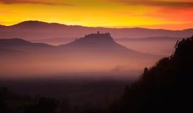 Wolken am Morgen Stockfotos