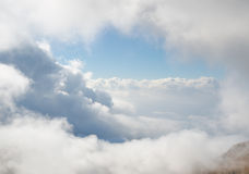 Wolken, Mottarone, Italien Lizenzfreie Stockfotografie